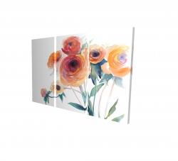 Canvas 24 x 36 - 3D - Watercolor flowers
