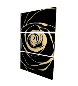 Canvas 24 x 36 - 3D - Black rose