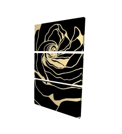 Canvas 24 x 36 - 3D - Silhouette of a rose