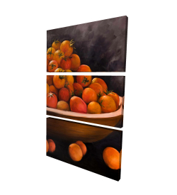 Canvas 24 x 36 - 3D - Bowl of cherry tomatoes