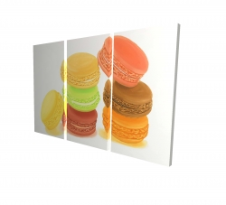 Canvas 24 x 36 - 3D - Delicious macaroons