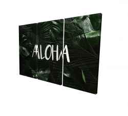 Canvas 24 x 36 - 3D - Tropical aloha