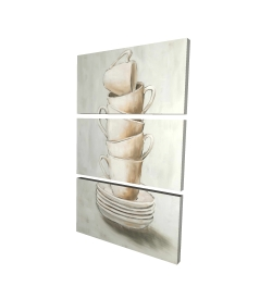 Canvas 24 x 36 - 3D - Stacked cups