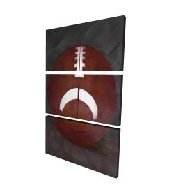 Canvas 24 x 36 - 3D - Football ball