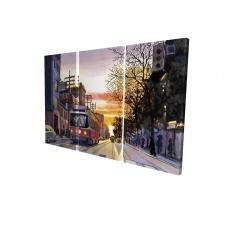 Canvas 24 x 36 - 3D - Sunset streetscape to toronto