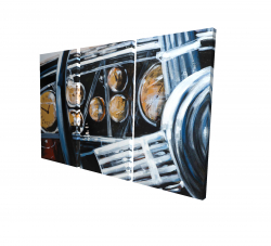 Canvas 24 x 36 - 3D - Vintage car interior