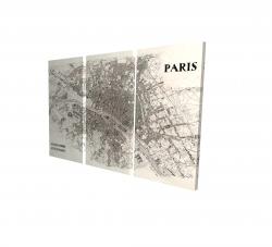Canvas 24 x 36 - 3D - Paris