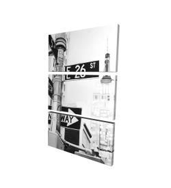 Canvas 24 x 36 - 3D - New york city street signs