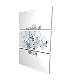 Canvas 24 x 36 - 3D - Round pebbles