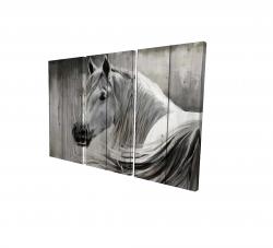 Canvas 24 x 36 - 3D - Rustic horse