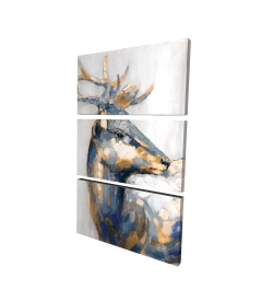 Canvas 40 x 60 - 3D - Golden deer
