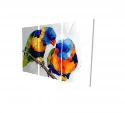Canvas 24 x 36 - 3D - Couple of parrots
