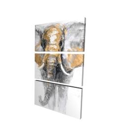 Canvas 24 x 36 - 3D - Golden elephant