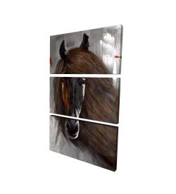 Canvas 24 x 36 - 3D - Proud brown horse