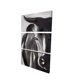 Canvas 24 x 36 - 3D - Bull head closeup