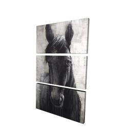 Canvas 24 x 36 - 3D - Black horse