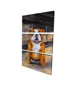 Canvas 24 x 36 - 3D - Smiling bulldog