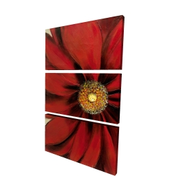 Canvas 24 x 36 - 3D - Red daisy