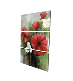 Canvas 24 x 36 - 3D - Abstract wild flowers bundle