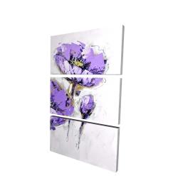 Canvas 24 x 36 - 3D - Purple anemones