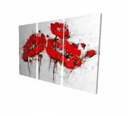 Canvas 24 x 36 - 3D - Abstract poppy flowers