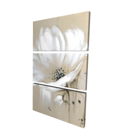 Canvas 24 x 36 - 3D - White abstract wild flower