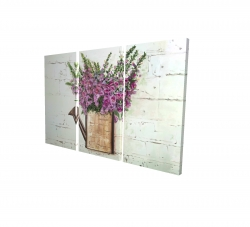 Canvas 24 x 36 - 3D - Purple foxglove flowers