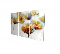 Canvas 40 x 60 - 3D - Color spotted flowers