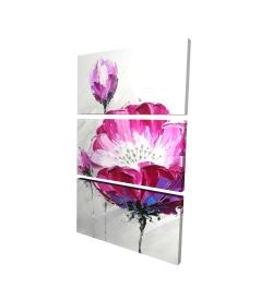 Canvas 24 x 36 - 3D - Fuchsia wild flower