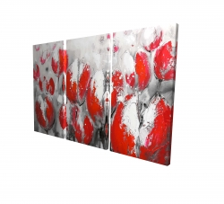 Canvas 24 x 36 - 3D - Abstract red tulips