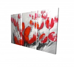 Canvas 24 x 36 - 3D - Red tulips