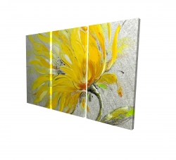 Canvas 24 x 36 - 3D - Yellow flower