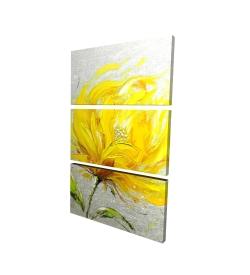 Canvas 24 x 36 - 3D - Yellow fluffy flower