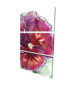Canvas 24 x 36 - 3D - Blossoming orchid with wavy petals