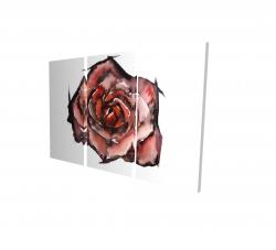 Canvas 24 x 36 - 3D - Watercolor rose