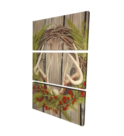 Canvas 24 x 36 - 3D - Christmas wreath with panache