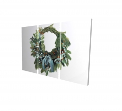 Canvas 24 x 36 - 3D - Christmas wreath