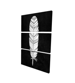 Canvas 24 x 36 - 3D - Native american feather