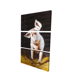Canvas 24 x 36 - 3D - Happy pig