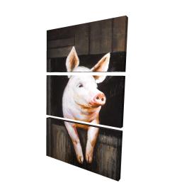 Canvas 24 x 36 - 3D - Smiling pig