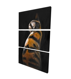 Canvas 24 x 36 - 3D - Spotted cat