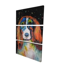 Canvas 40 x 60 - 3D - Colorful dog