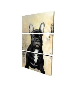 Canvas 24 x 36 - 3D - French bulldog