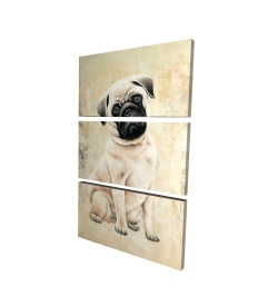 Canvas 24 x 36 - 3D - Small pug