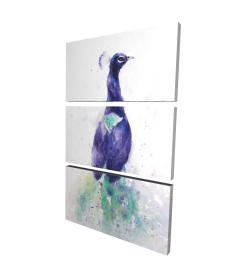Canvas 24 x 36 - 3D - Graceful peacock
