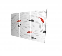 Canvas 24 x 36 - 3D - Swimming fish swirl