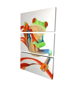Canvas 24 x 36 - 3D - Red-eyed frog