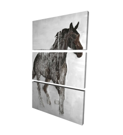 Canvas 24 x 36 - 3D - Abstract brown horse