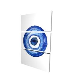 Canvas 24 x 36 - 3D - Erbulus blue evil eye