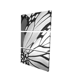 Canvas 24 x 36 - 3D - Monarch wings closeup
